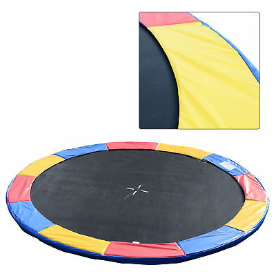 14'Outsunny Trampoline Pad Safety Mat Round Enclosure Frame Replacement Exercise