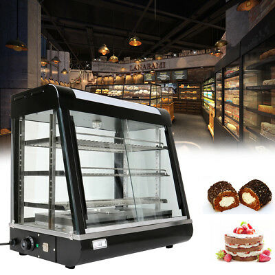 1850W Commercial Pie Food Warmer Hot Display Showcase Cabinet