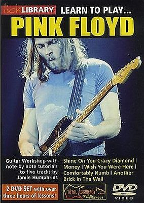Lick Library Learn To Play Pink Floyd Electric Guitar 2 Dvd Set Volume 1 New
