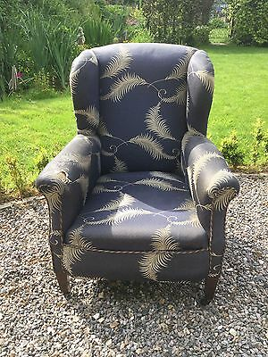 Antique Edwardian Wing Back Armchair For Recovering