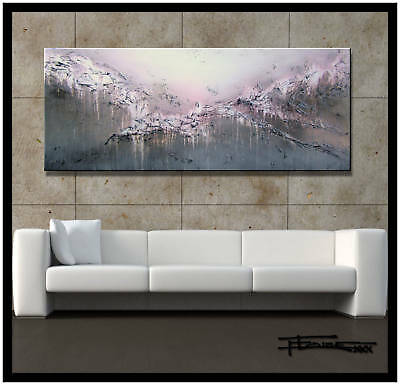 ABSTRACT MODERN CANVAS PAINTING CONTEMPORARY WALL ART 60in.  ELOISExxx