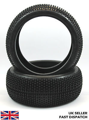 1/8th Scale Mini Spike RC Buggy/Truck/Car Tyres 2pcs inc foam inserts
