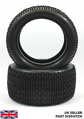 Rear all terrain RC Buggy/Car Tyres 1/10th 2pcs with foam inserts - UK stock