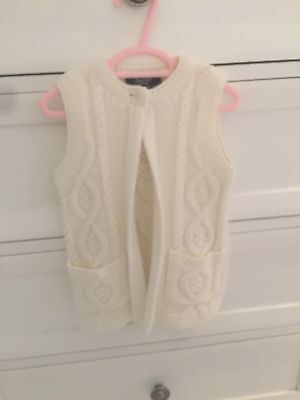 Bardot Junior Baby Girl Beige Knit Vest Size 2