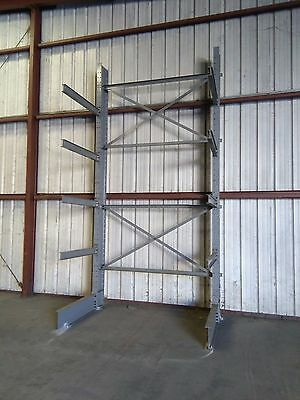 "Steel Single Section 4 Arm 48"" Cantilever Metal Lumber Tree Racks 16'x8'"