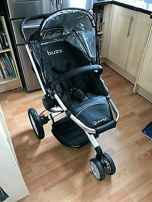 Quinny Buzz Black Pram with Separate Carry Cot