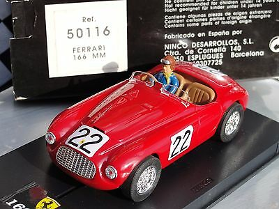 Ninco Ferrari 166Mm  #22   Red  1:32 Scale  New Old Stock Boxed