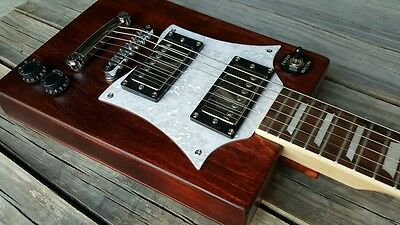 Cigar Box Guitar Tipo Gibson SG. Guitarra. Video demostrativo en descripcion.