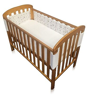 Babycurls Breathe Easy Airflow Mesh Cot Liner Breathable (4 Sided, Jungle Fun)