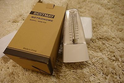 BESTMAY Metronome Piano/Violin/Drum/muscial Instruments Metronome in WHITE