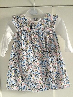 baby girls pinafore dress and top from marks and spencer aged 6-9 months