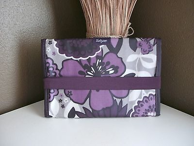 Thirty-One 31~Fold & Go Organizer with Notepad~Plum Awesome Blossom