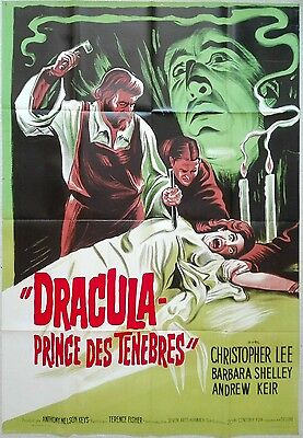 1966 DRACULA PRINCE OF DARKNESS Christopher Lee LITHO French 47x63 film poster