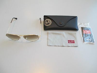 Ray Ban Aviator Sunglasses Women's  Gold colored frame and gradient brown lenses
