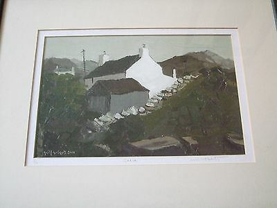 Signed limited edition Wilf Roberts print, well framed, Gadfa, Welsh interst