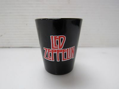 Led Zeppelin Black Shot Glass Official Tour Collection Logo Shooter 2006 I903