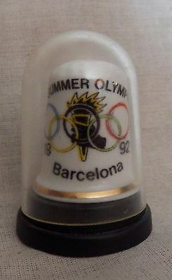 Collectable thimble XXV summer Olympics Barcelona 1992
