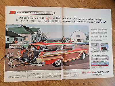 1957 Mercury Ad Big M Station Wagons Colony Park Voyager Commuter