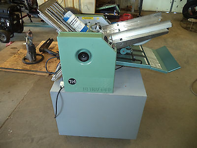 Baum Ultrafold 714 Paper Folder with Cart & Extra Parts