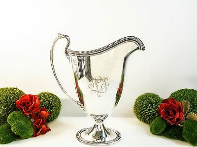 Silver Plated Trophy Pitcher IS Wilcox Marie Louise 1936 RARE Find TEXACO