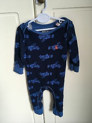 Joules Baby Grow Boy Blue Cars Print 3-6 Months