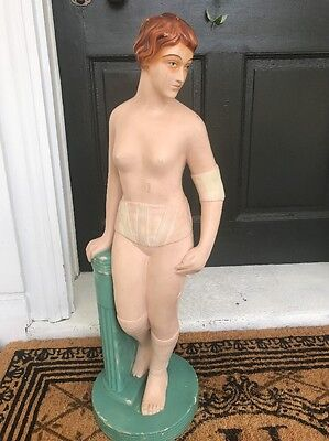 Advertising art deco style  collectible plaster statue for girdle/underwear