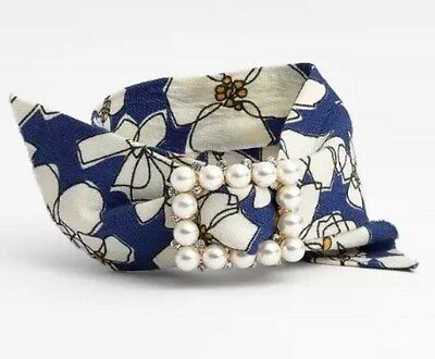 bdff12a1c316 Cara Women s Brooch Bracelet With Pearls Blue White 0733