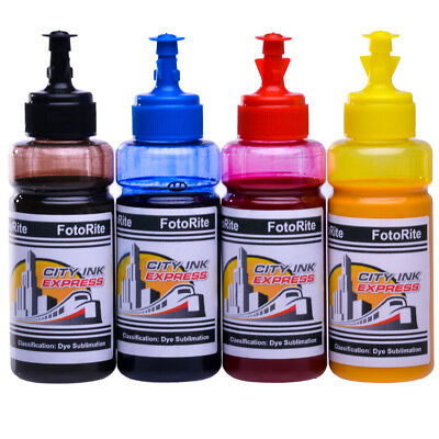 Dye Sublimation ink refill set Fits Epson T2701-4  Range Free Custom ICC Profile