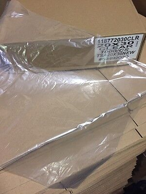 "1000 QTY 20""x 28"" Clear Poly Plastic TShirt Bags lay-flat Packaging Shipping"