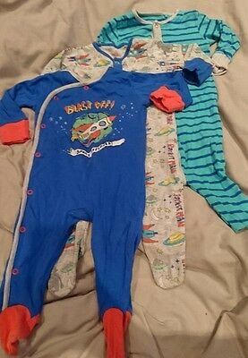 baby boy space sleepsuits 3-6 months from next