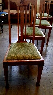 Arts and crafts Oak chairs