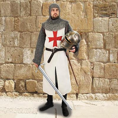 MEDIEVAL TEMPLAR KNIGHT Crusader Middle Ages COTTON SLEEVELESS TUNIC S/M L/XL