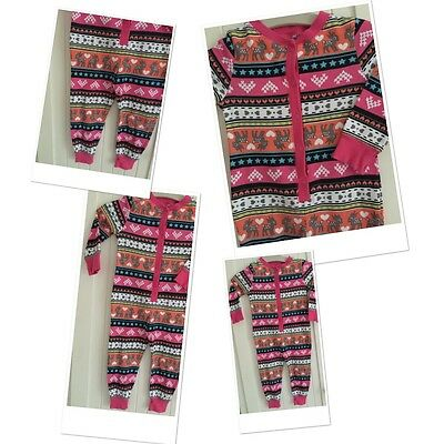 Baby Girls Cute All In One Pyjamas Suit 12-18 Months