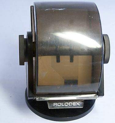 Vintage Rolodex Rotary Business Card File with Swivel Base Model No. SW-24C