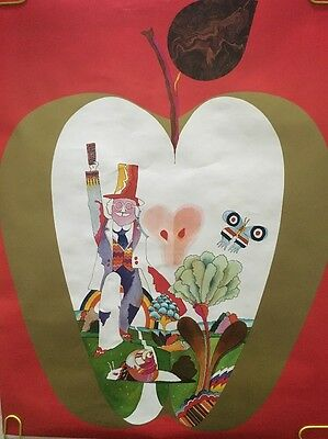 Original Vintage Poster The Beatles Psychedelic Man Lucy In Sky Yellow Submarine