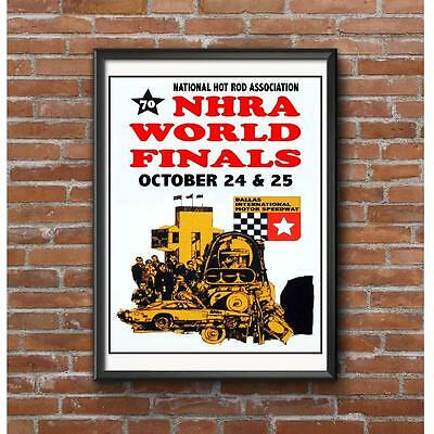 1970 NHRA World Finals Poster - Dallas International Motor Speedway