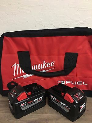 (Qty 2) Milwaukee M18 Lithium 9.0 Battery 48-11-1890 9.0Ah Tool & Bag Combo New