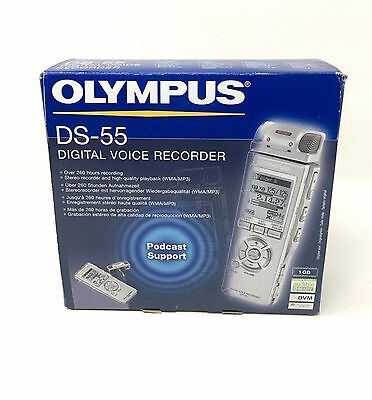 Olympus DS-55 Portable Stereo Digital Voice Recorder (Playback WMA/MP3) New!