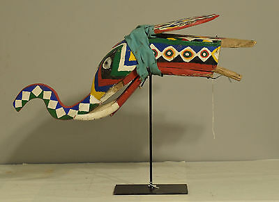 African Bozo Elephant Colorful Puppet Moveable Ears Mali Elephant Puppet