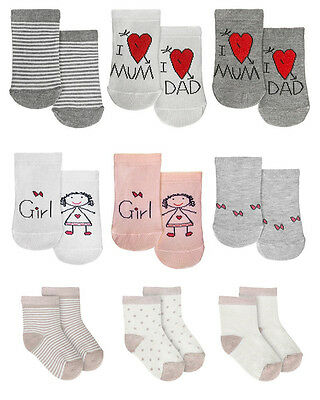 3 x BABY BOY / GIRL COTTON MIX CUTE COLORFUL SOCKS