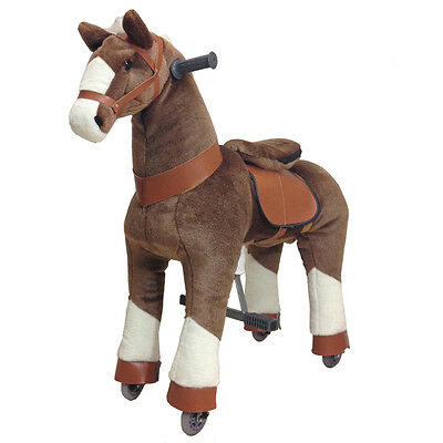 BROWN Ride-on Giddy Up Horse / Pony. For boys & girls 4-10 (02F) - REFURBISHED