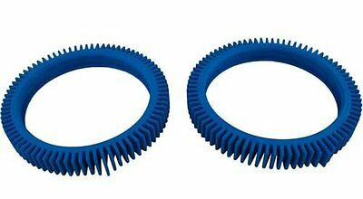 One Pair Of Blue Front Replacement Tyres For The Pool Cleaner - Genuine