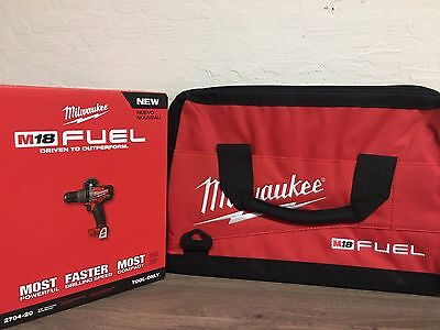 """Milwaukee M18 FUEL 1/2"""" Hammer Drill/Driver Brushless 2704-20 DRILL & BAG COMBO"""