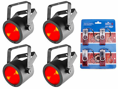 (4) Chauvet DJ Core Par 40 USB Stage Par Light Effects+(4) D-Fi USB Transceivers