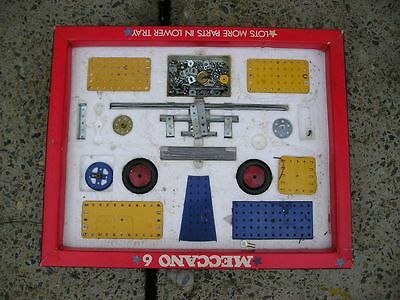 VINTAGE OLD SCHOOL MECCANO SET 1972 MECCANO set 6 -made in England  with books..