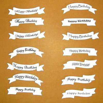 Happy Birthday Card Making Banners Labels Tags Birthday Die Cuts X 14