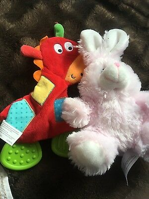 Baby teething toy and soft bunny