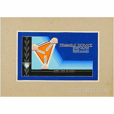 Triangle Service Hand Painted Advertisement #8619