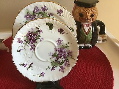 Hammersley Bone China Victorian Violets Made in England Side Plate n Saucer