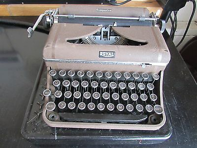 Vintage Royal Companion Typewriter with Case